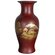 "Oriental Furniture 15"" Fishtail Vase in Red"