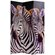 Oriental Furniture Double Sided Elephant and Zebra Canvas Room Divider