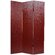 Oriental Furniture Faux Leather Crocodile Room Divider in Burgundy