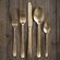 DwellStudio 5 Piece Oro Cutlery Set in Gold