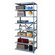 Hallowell Hi-Tech Shelving Extra Heavy-Duty Open Type Add-on Unit with 8 Shelves