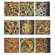 "Crestview Collection Floral Murals Wall Decor (Set of 9) - 10"" x 10"""