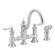 Moen Waterhill Two Handle Widespread High Arc Bridge Faucet with Convenient Side Spray