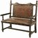New World Trading Colonial Solomon Wooden Bench
