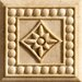 "Romancing the Stone 2"" x 2"" Compressed Stone Renaissance Insert in Ivory"