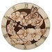 Magnolias Decorative Wall Clock