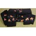 7 Piece Koi Fish Bath Set in Black
