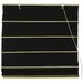 Cotton Roman Shades Blinds in Black