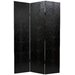 Faux Leather Crocodile Room Divider in Black