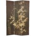 Tall Frameless Black Bamboo Design Screen