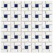 "Retro 12-1/2"" x 12-1/2"" Glazed Porcelain Spiral Mosaic in White and Blue"