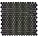 "Penny 12-1/4"" x 12"" Glazed Porcelain Mosaic in Black"