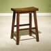 Honey Brown 24&quot; Saddleseat Counter Stool