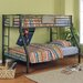 Monster Bedroom Twin over Full Bunk Bed with Built-In Ladder