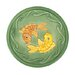 Green Fish Bird Bath Bowl and Stake