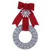 Holiday Houndstooth Wreath