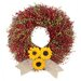 Sunrise Sunflower Wreath