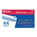 55 Ct. Self-Seal Security Envelopes
