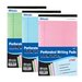 3 Ct. Multi Color Jr. Perforated Writing Pad (Set of 24)