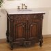 "36"" Symphony Sink Vanity in Light Brown"