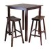 Parkland 3 Piece Table with 2 Saddle Seat Stools Set