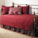 Trellis 5 Piece Daybed Set in Scarlet