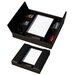1000 Series Classic Leather Conference Room Organizer in Black
