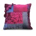 Patchwork Cranberry/Olive Pillow Shell
