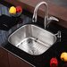 Stainless Steel Undermount 20&quot; Single Bowl Kitchen Sink with 14.5&quot; Kitchen Faucet and Soap Dispenser