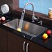 "Stainless Steel Undermount 32"" Single Bowl  Kitchen Sink with Kitchen Faucet and Soap Dispenser"