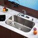 "Stainless Steel Undermount 30"" Single Bowl Kitchen Sink with 11"" Kitchen Faucet and Soap Dispenser"