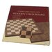 "Premium Quality 18"" Walnut Chessboard"