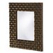 Justin Rectangular Framed Mirror in Copper