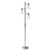 Bendek  Floor Lamp in Satin Steel