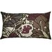 Flora 15 x 27 Pillow in Brown/Eggplant.