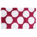 Polkamania Raspberry/White Kids Rug