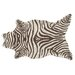 Resort Brown Zebra Shaped Rug