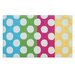 Polka Mania White/Multi Kids Rug