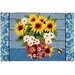 Sunflowers In Bandana Pot Rug