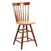 "Copenhagen 24"" Spindleback Swivel Counter Stool in Cinnamon and Espresso"