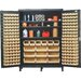 "60"" Super Wide Heavy Duty Storage Cabinet with 185 Ultra Bins"