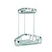 Basket Double Small Corner Shower Basket in Chrome