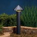 Textured Black One Tier Path Light
