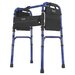 Freedom Series Deluxe Aluminum Folding Walker in Blue