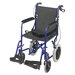 "Lightweight Aluminum Transport Chair with 12"" Rear Wheels"