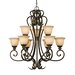 Heartwood 9 Light Chandelier