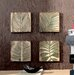 "12"" x 12"" Wood Palm Leaf Wall Art  - Set of 4"