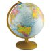 12-Inch Globe with Blue Oceans, Gold-Toned Metal Desktop Base