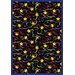 Whimsy Streamers and Stars Novelty Rug