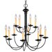 Heritage 12 Light Chandelier